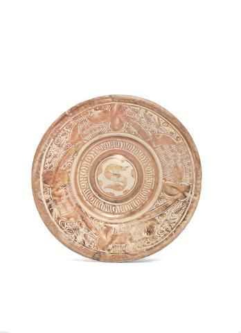 A hispano-mauresque lustre dish circa 1520 (repaired)