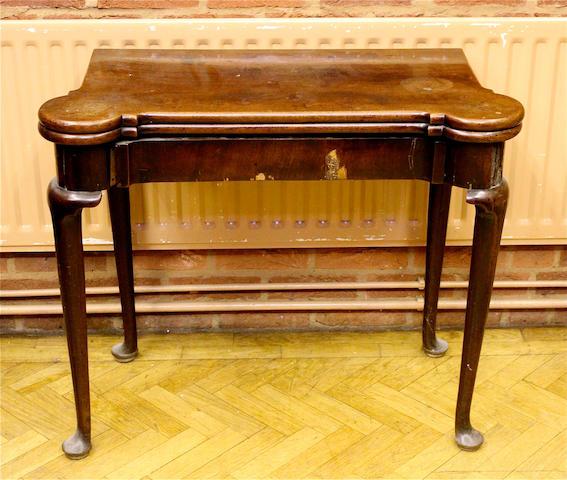A George II mahogany card table