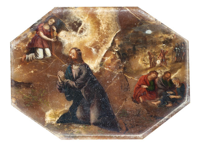 Florentine School, circa 1640 Christ in the Garden of Gethsemane
