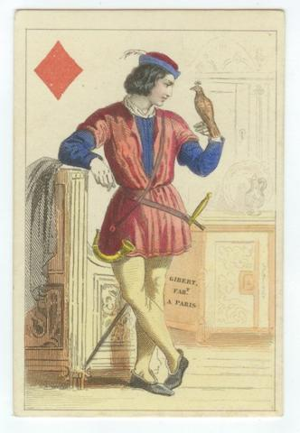 "A French pack of ""English Personalities"" playing cards, by O. Gibert, Paris, circa 1850,"