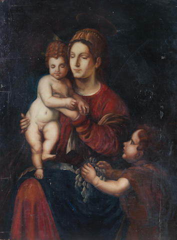 Manner of Luca Signorelli The Madonna and Child u/f