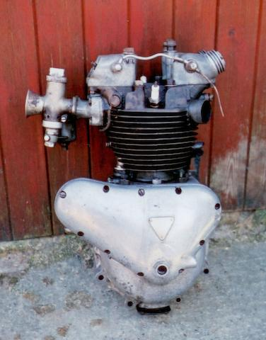 A circa 1938 Triumph Speed Twin engine,