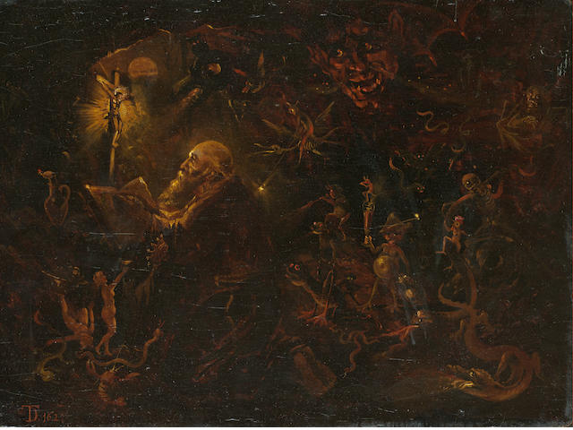 German School, 18th Century The Temptation of Saint Anthony