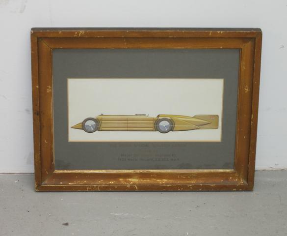 Three motoring prints,