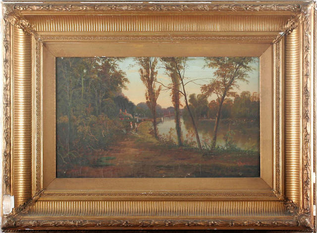 E. Morris, 19th Century River Thames at Maidenhead, a pair each 30.5 x 51cm (12 x 20 1/16in), (2).