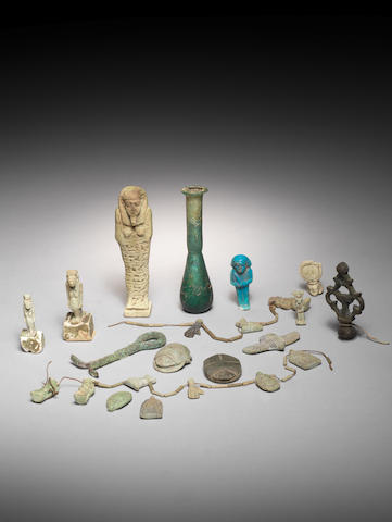 A large group of Egyptian Antiquities