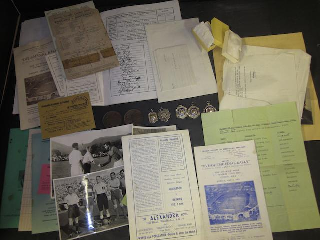 A collection of various items pertaining to former 1940's/50's football referee Kenneth Bond