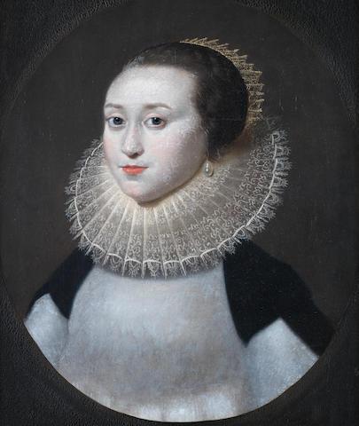 Follower of Daniel Mytens the Elder (Delft circa 1590-1648 The Hague) Portrait of a lady, bust-length,