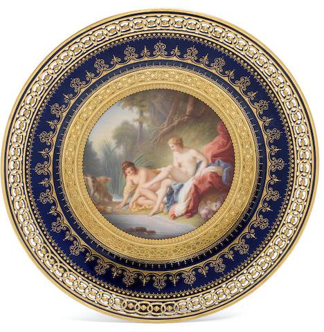 A Meissen cabinet plate, second half 19th century