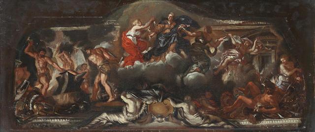 Circle of Ciro Ferri (Rome 1634-1689) The Triumph of Peace