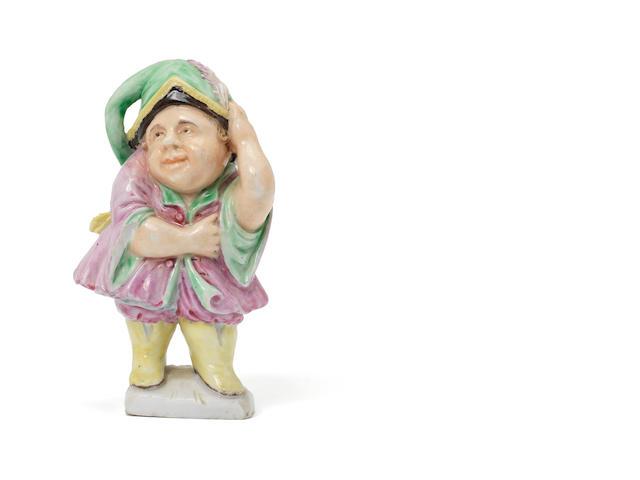 An Italian porcelain figure of a dwarf, prob Doccia