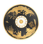 An elaborately chinoiserie gilded Nymphenburg ecuelle and cover