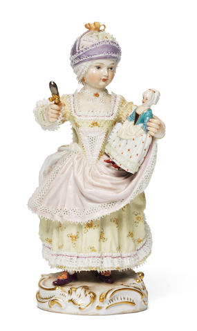 A Meissen figure of a young girl, circa 1880