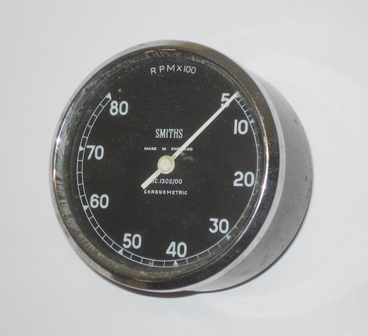A Smiths 8,000rpm Chronometric rev counter,