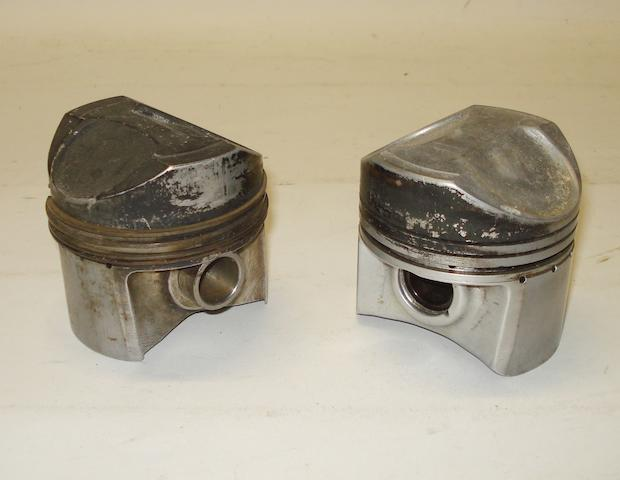 Two Manx Norton 500cc pistons,