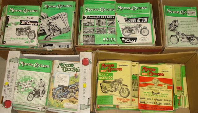 A good quantity of Motor Cycling magazine loose issues,