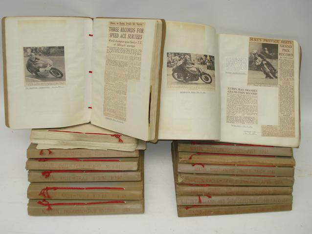 A collection of Norton Factory scrapbooks, 1960-61,