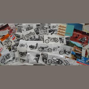 Norton Commando and post-War BSA photographs and ephemera,