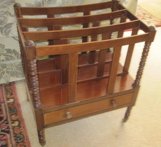 A late 19th Century mahogany Canterbury,