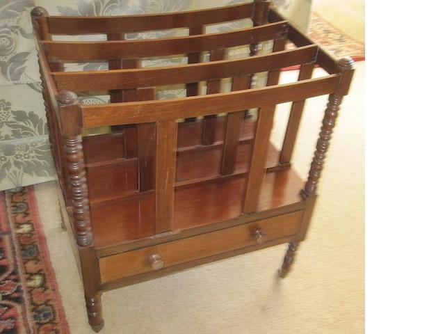 A late 19th century mahogany canterbury