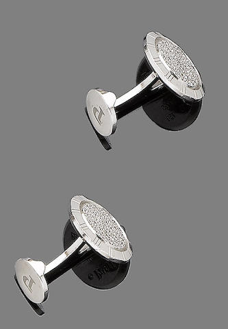 A pair of diamond-set cufflinks, by Piaget