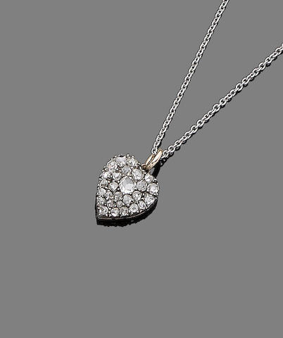 A diamond pendant necklace,
