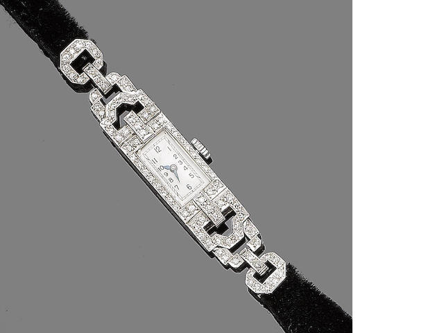 A diamond-set cocktail watch,