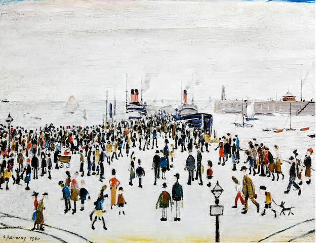 Laurence Stephen Lowry R.A. (British, 1887-1976) 'Ferry Boats'