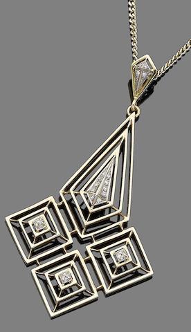 A diamond-set pendant, by Lalaounis