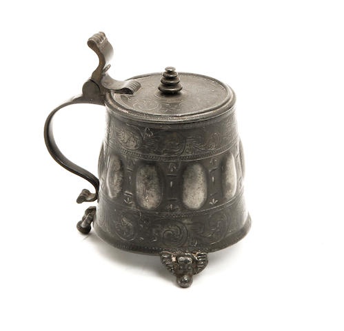 A small pewter tankard, German, circa 1880