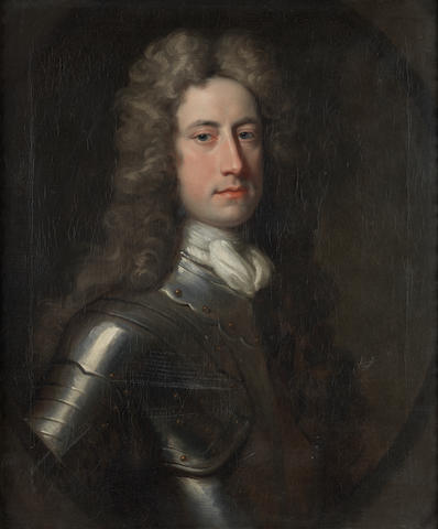 Jonathan Richardson (London 1665-1745) Portrait of William Stanhope, 1st Earl of Harrington (1683?-1756), in armour,