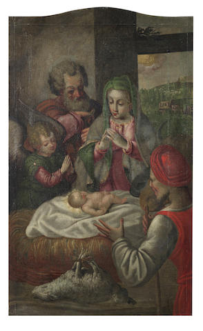Circle of Andrea Boscoli (Florence 1560-1607 Rome) The Adoration of the Shepherds