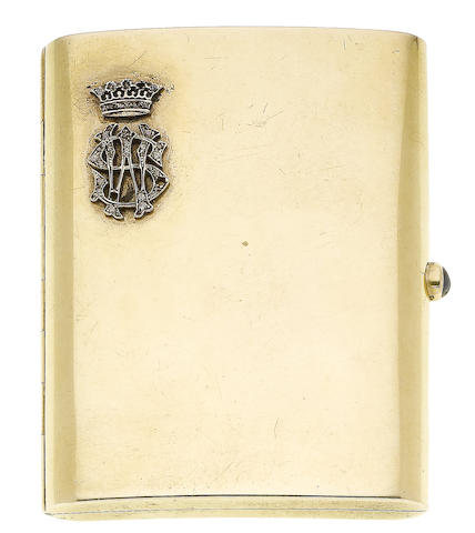 A cigarette case (illustrated inside the front cover)