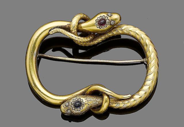 A serpent brooch,