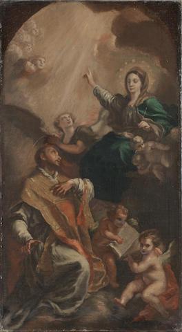 Circle of Domenico Mondo (Capodrise 1723-1806 Naples) The Vision of Saint Ignatius Loyola