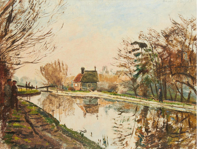 Carel Weight R.A. (British, 1908-1997) Lock at Denham