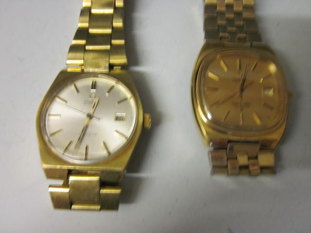 Omega: A gentleman's gold plated bracelet watch,  (2)