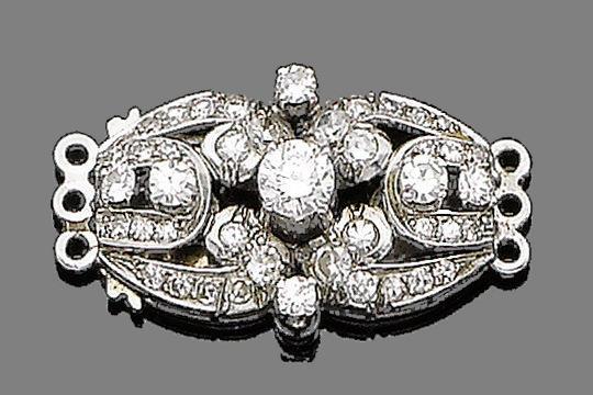 A diamond clasp
