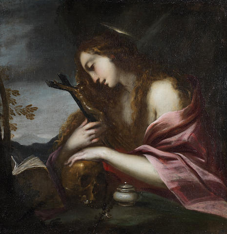 Lombard School, 17th Century The Penitent Magdalene unframed