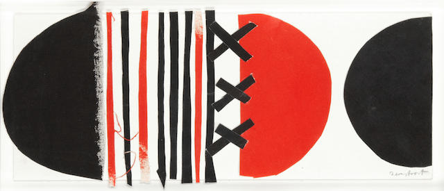 Sir Terry Frost R.A. (British, 1915-2003) Red black and white laced, 2000