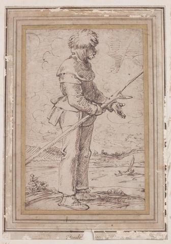 Circle of Annibale Carracci (Bologna 1560-1609 Rome) A Fisherman