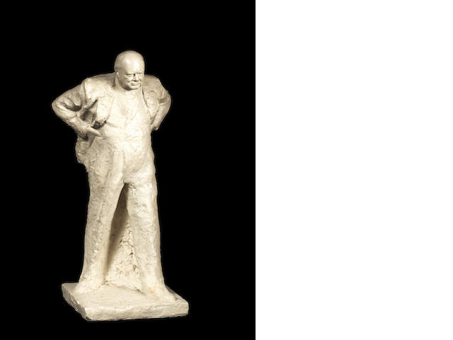 Oscar Nemon (British, 1906-1985) Winston Churchill 63 cm. (24 3/4 in.) high (including base)