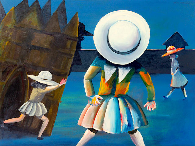 Charles Blackman (born 1928) Schoolgirls 1954