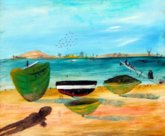 Sidney Nolan (1917-1992) Boats, St Kilda c.1945