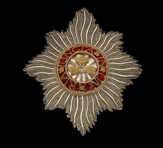 Order of the Bath, bullion breast star