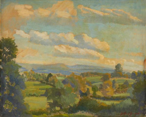 Gilbert Spencer R.A. (British, 1892-1979) Dorset Gap