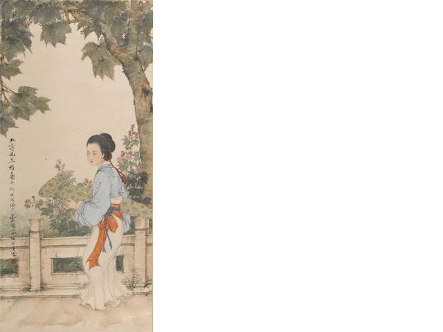 Deng Fen (1894-1964) Beauty in the style of Tang Yin