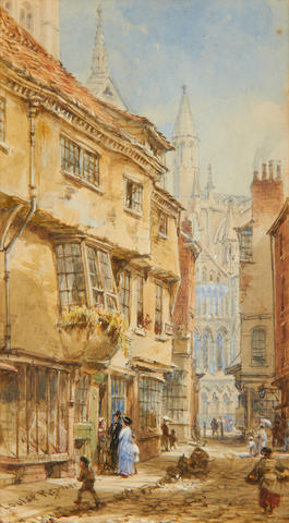 Louise J. Rayner (British, 1832-1924) Stonegate, Chester