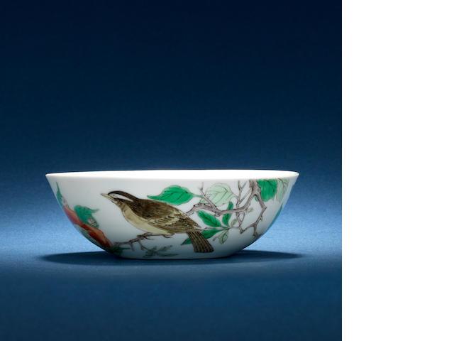 A rare famille verte bowl Kangxi