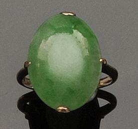 A jade ring and three further rings (4)